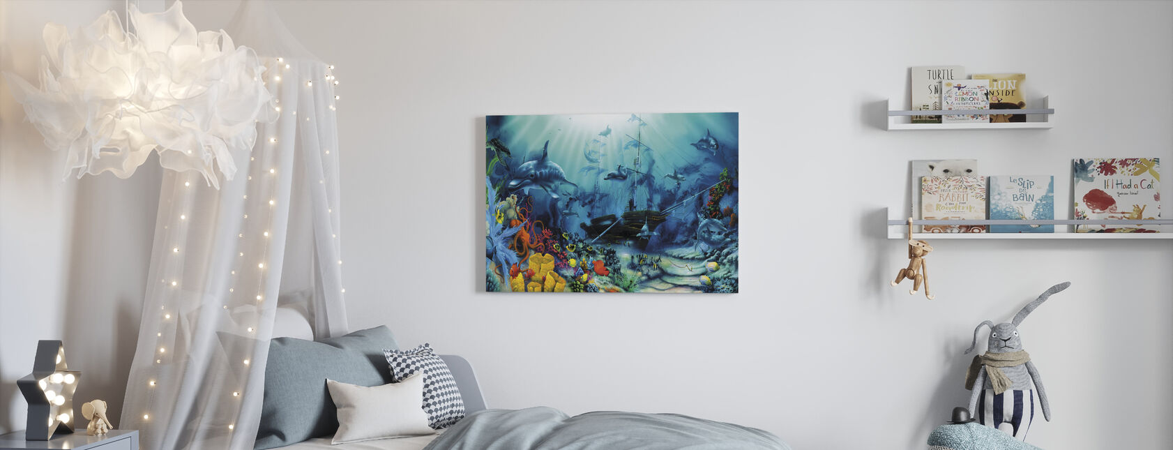 Schatten van de oceaan - Canvas print - Kinderkamer