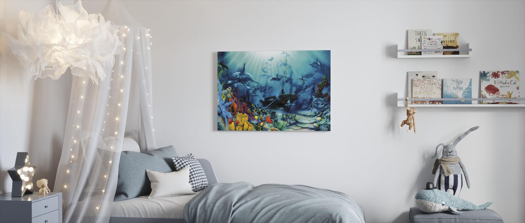 Ocean Treasures - Canvas print - Kids Room