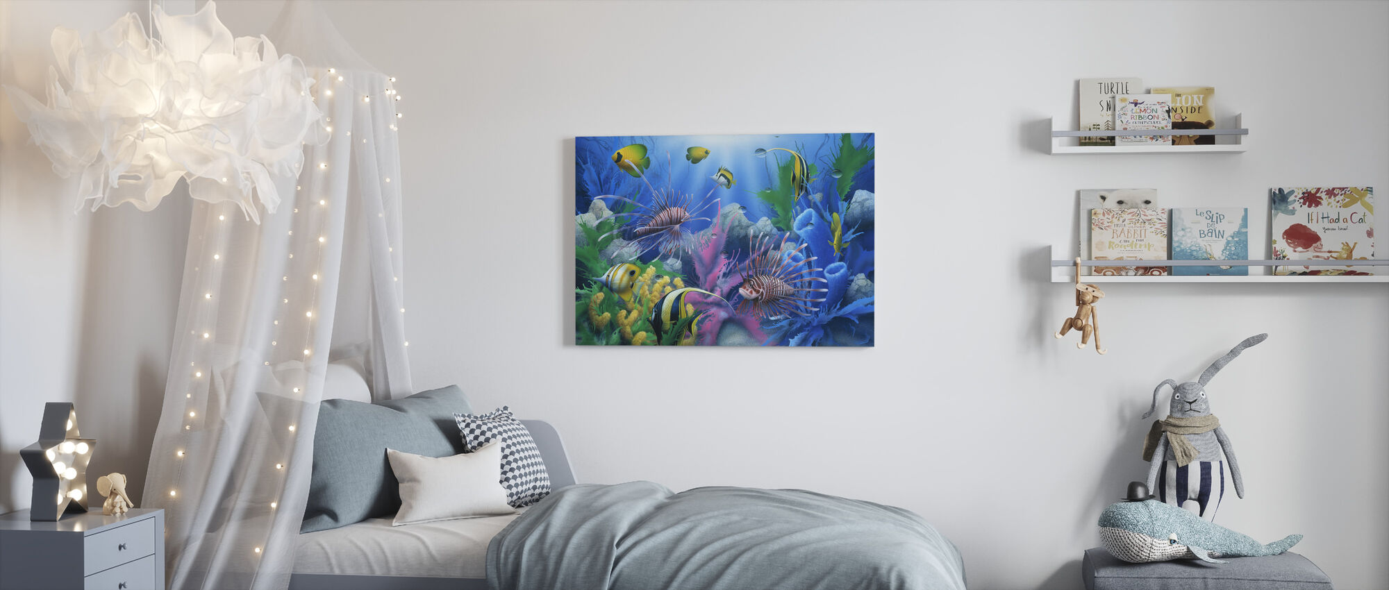 Lions of the Sea - Canvas print - Kids Room
