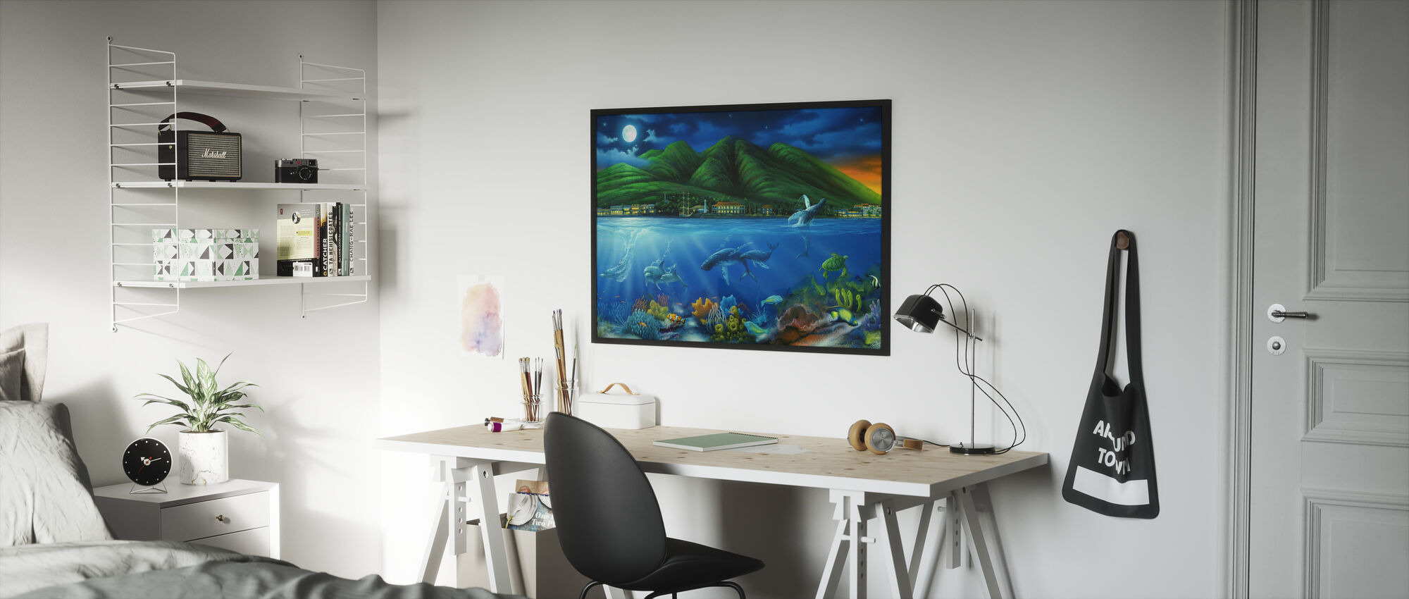 Lahaina Moon - Framed print - Kids Room