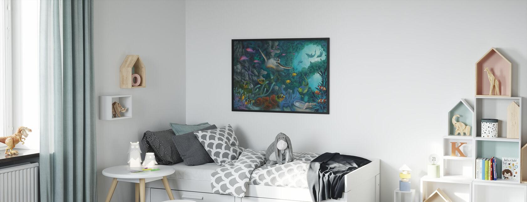 Merten jalokivet - Kehystetty kuva - Lastenhuone