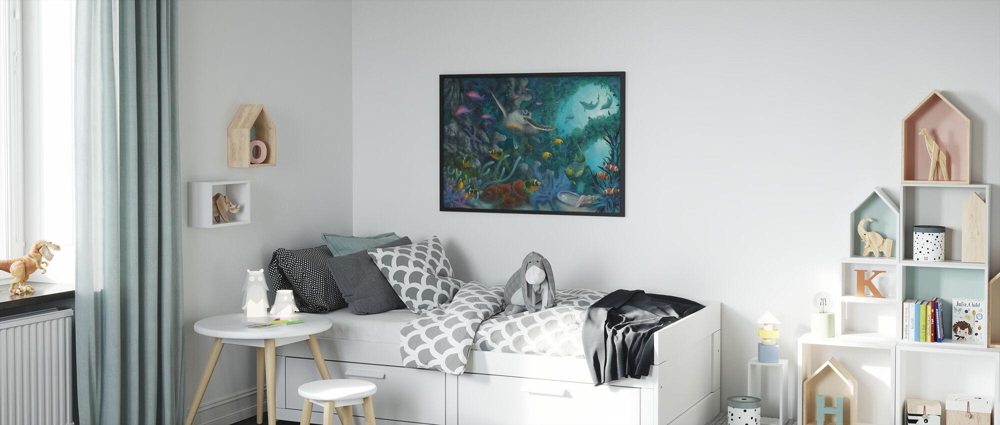 Juveler av havet - Innrammet bilde - Barnerom