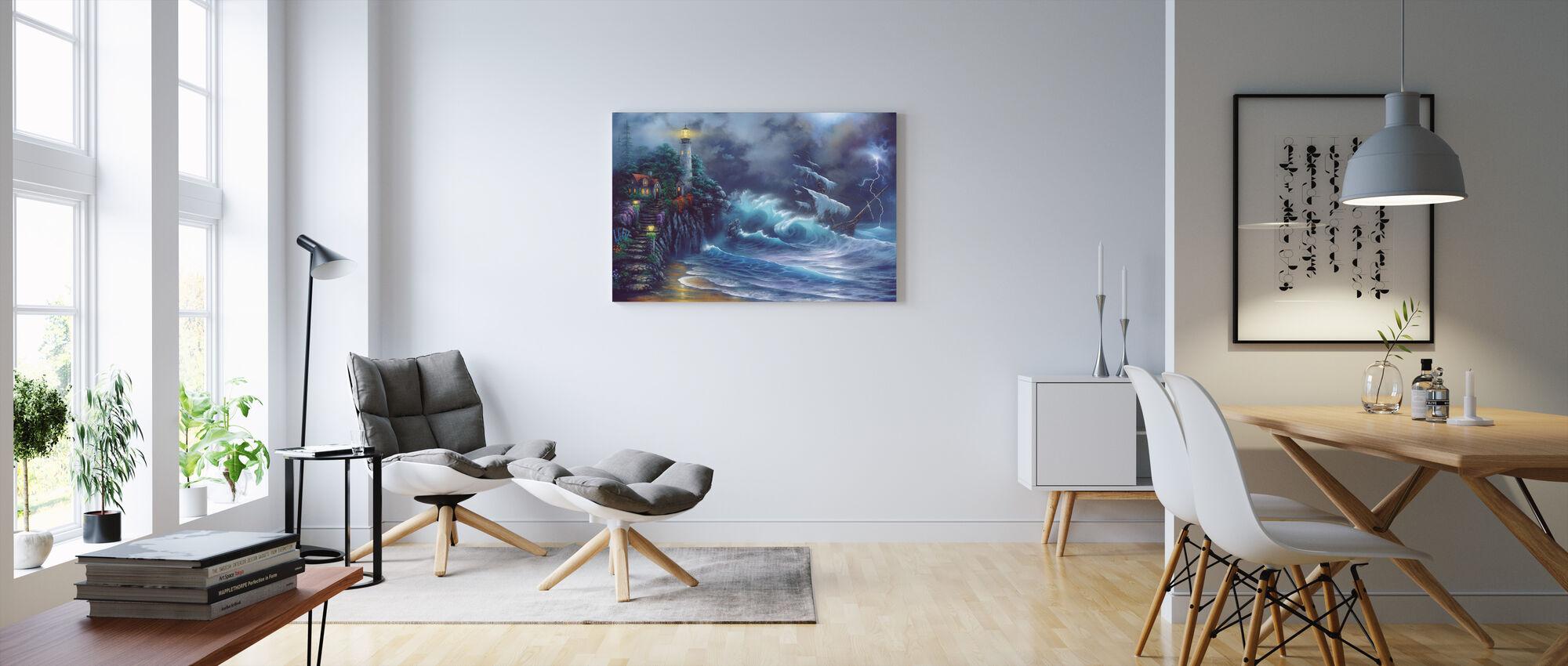 Revenge of the Sea - Canvas print - Living Room