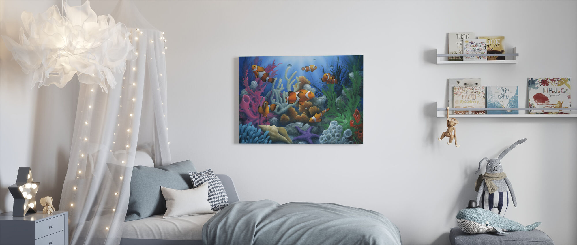 Hier komen de clowns - Canvas print - Kinderkamer