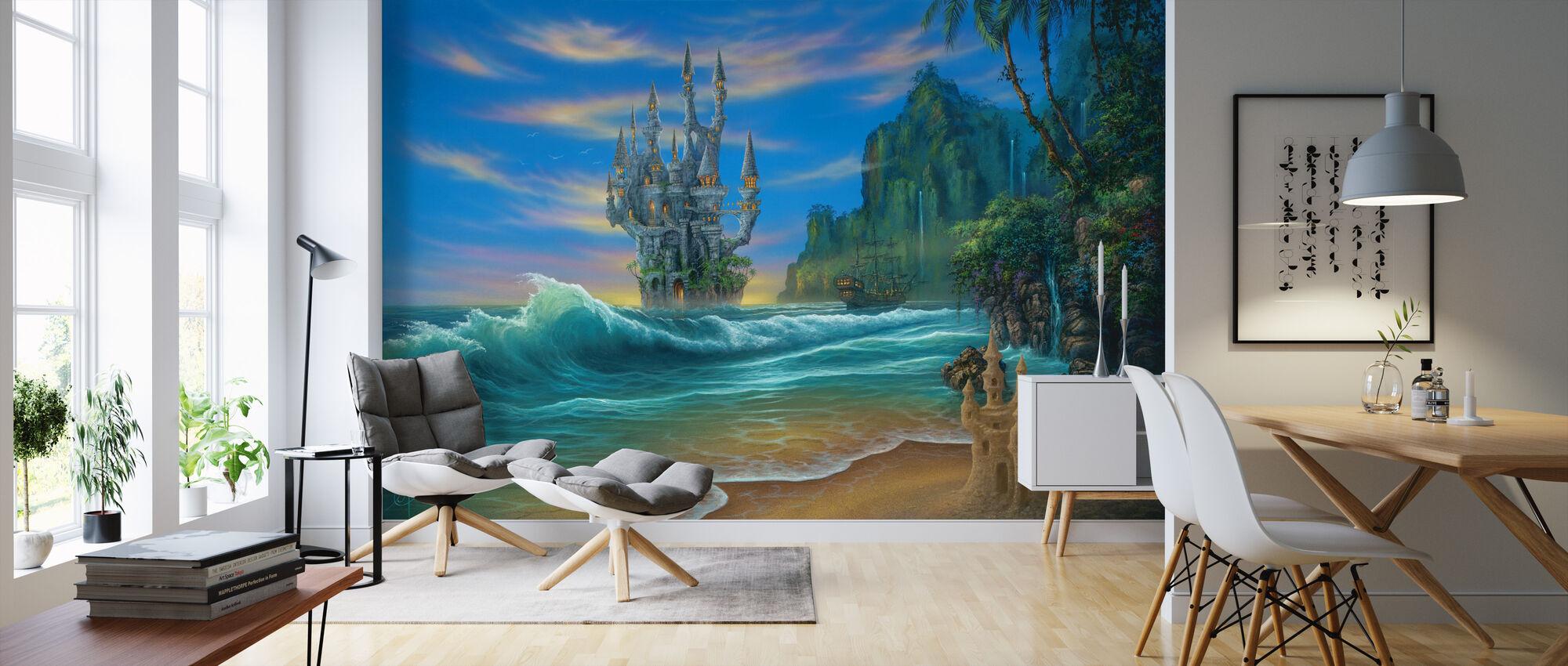 Fantasy strand - Tapet - Stue