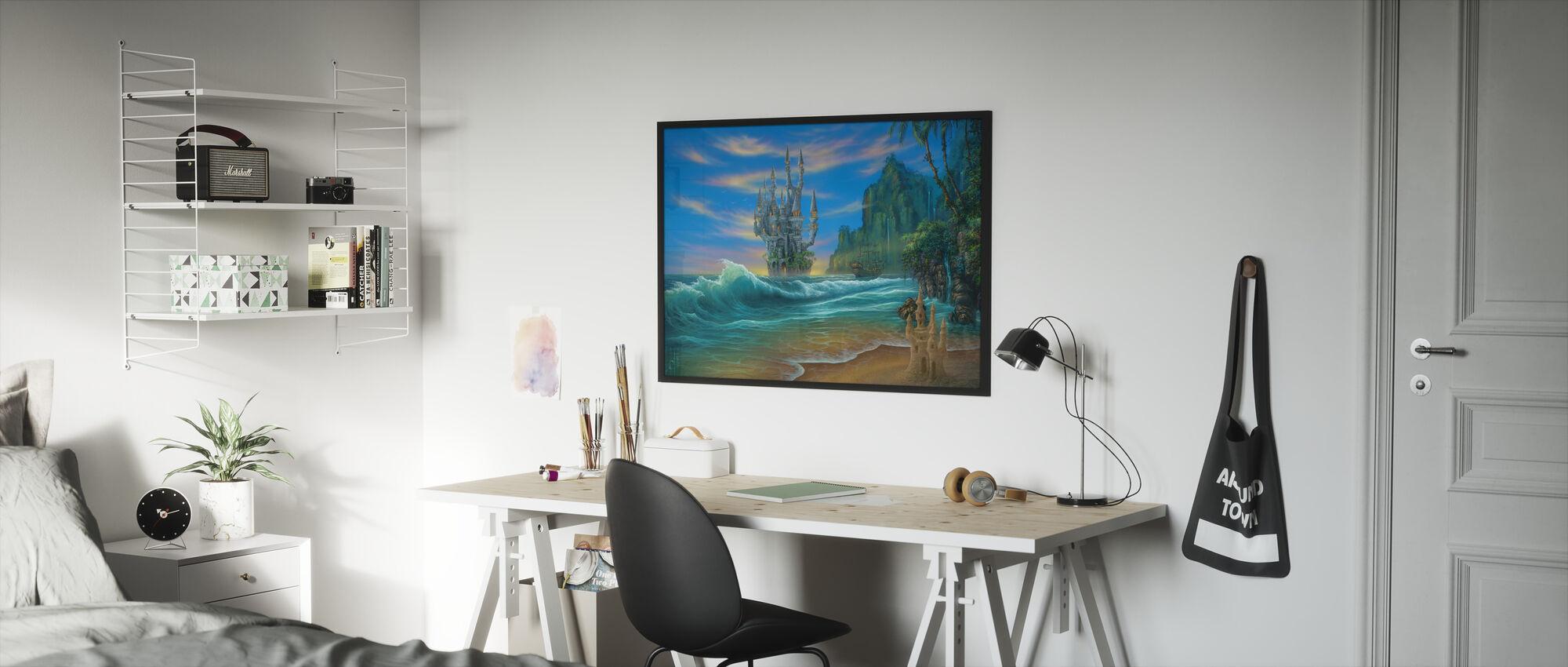 Fantasy Strand - Ingelijste print - Kinderkamer