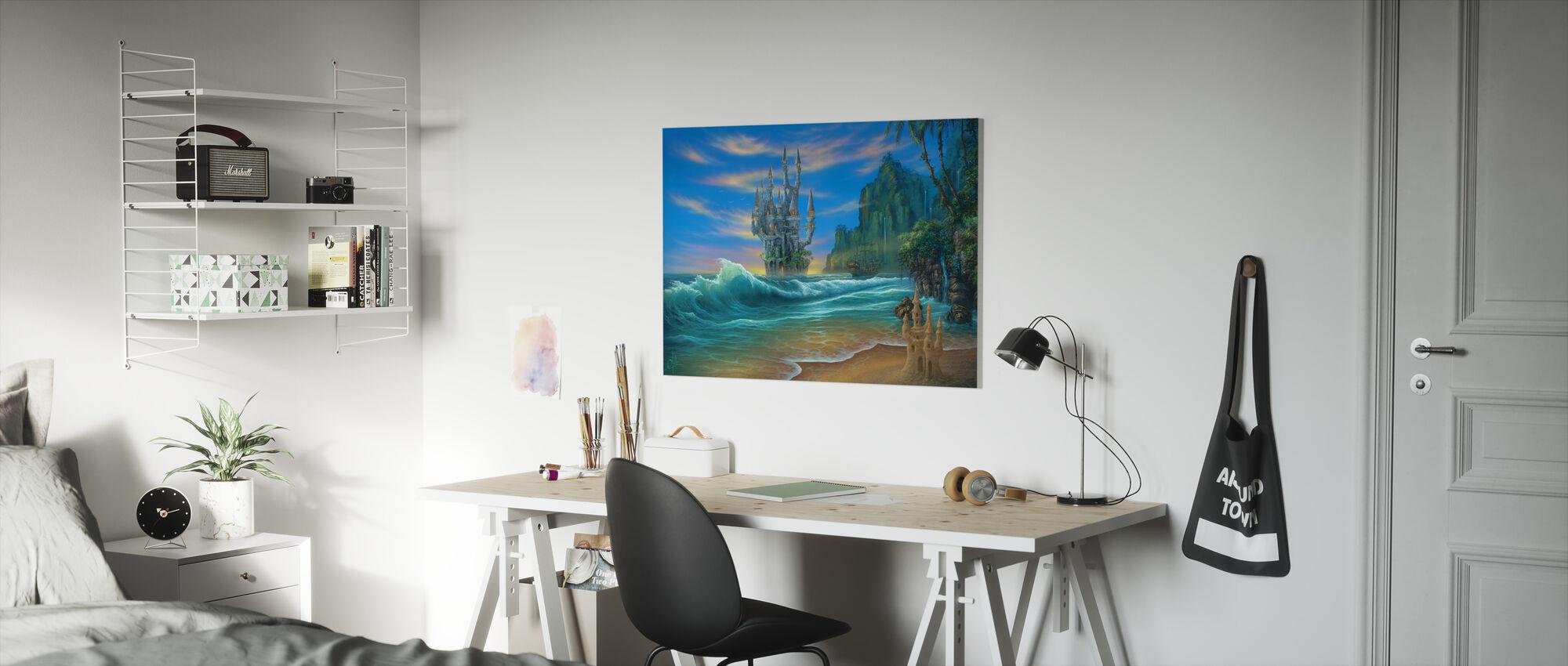 Fantasy Beach - Canvas print - Kids Room