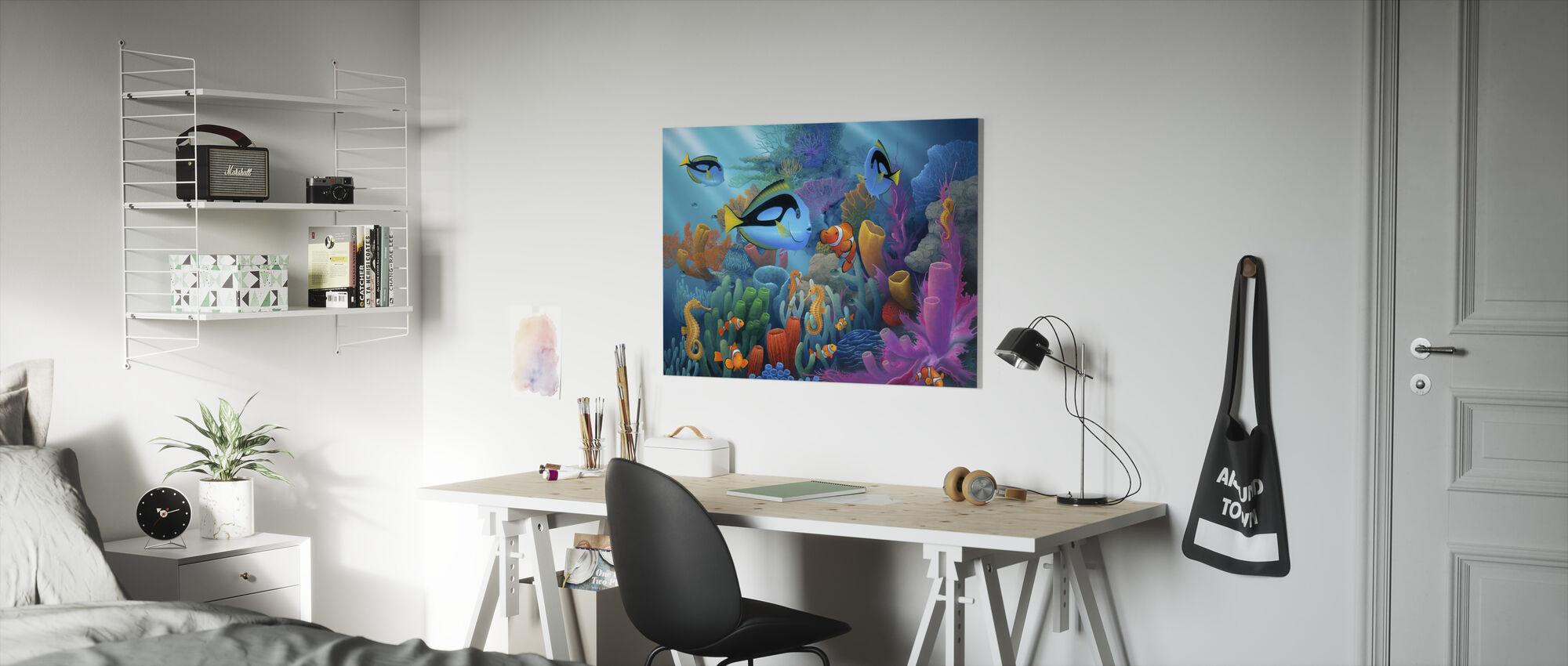 Venner av havet - Lerretsbilde - Barnerom