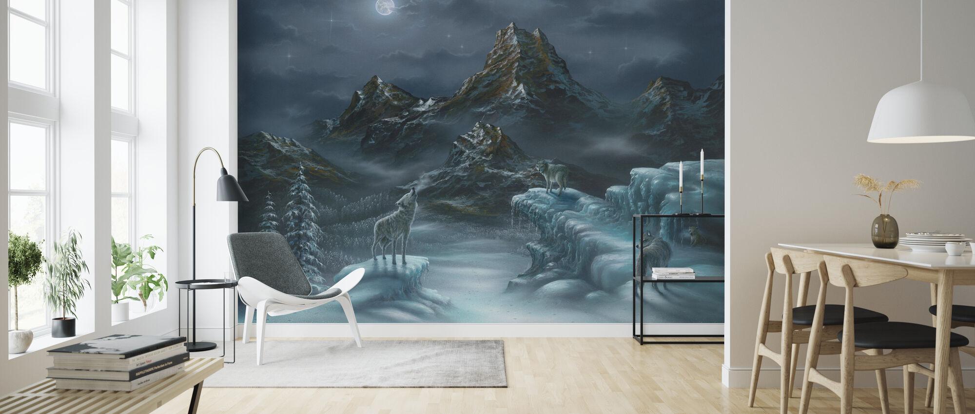 Spirit Song - Wolf - Tapete - Wohnzimmer