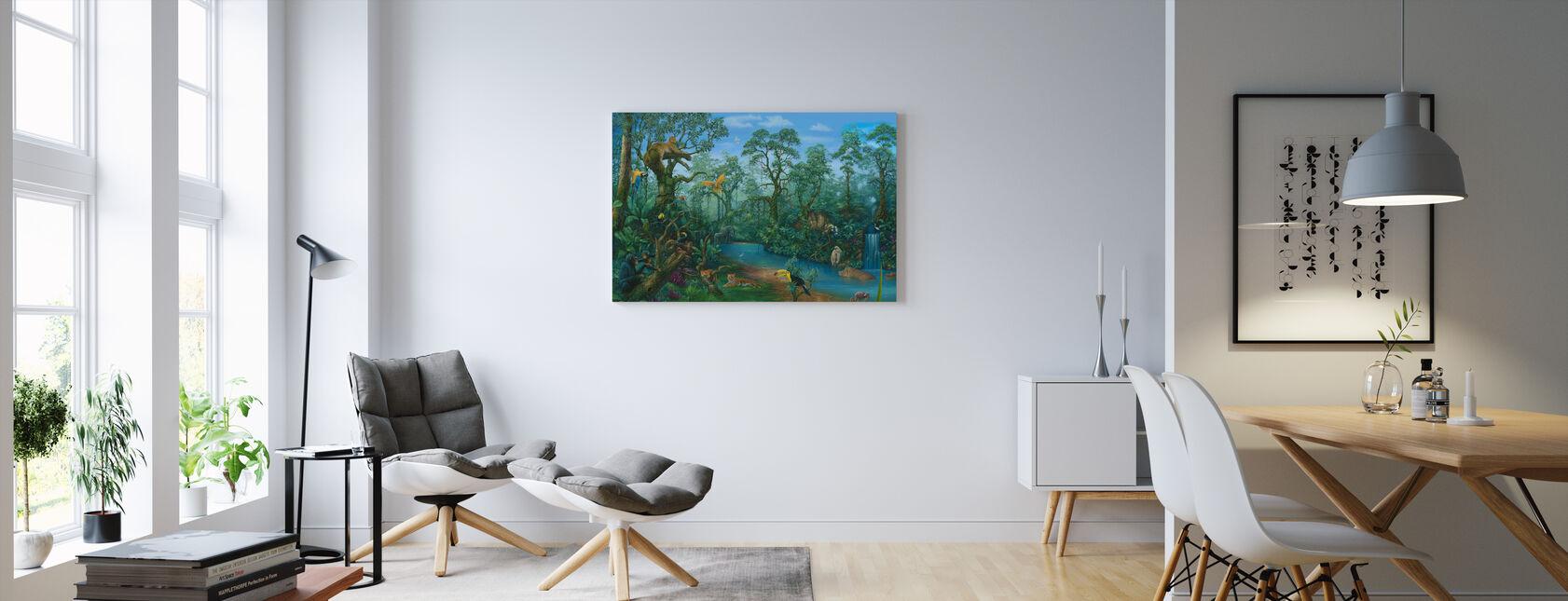 Det er en jungle derude - Billede på lærred - Stue