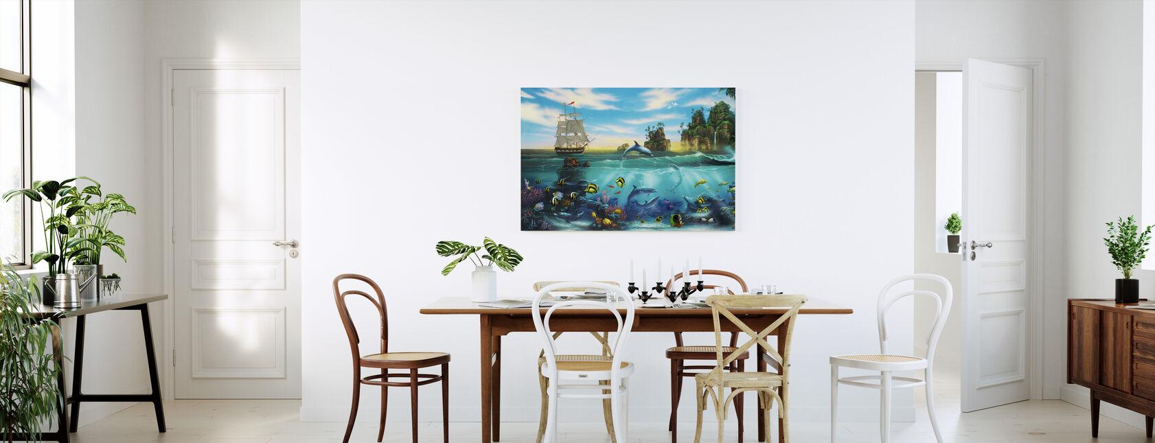Paradise Found - Canvas print - Kitchen