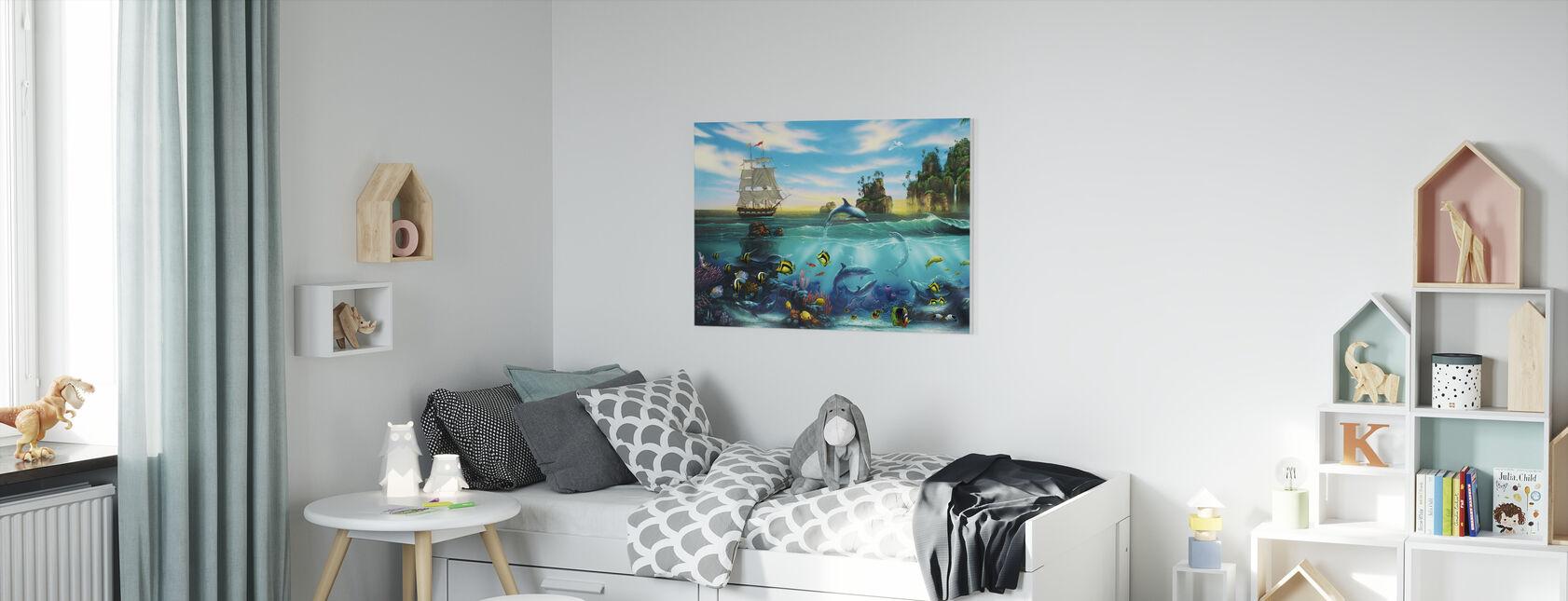 Paradise Found - Canvas print - Kids Room
