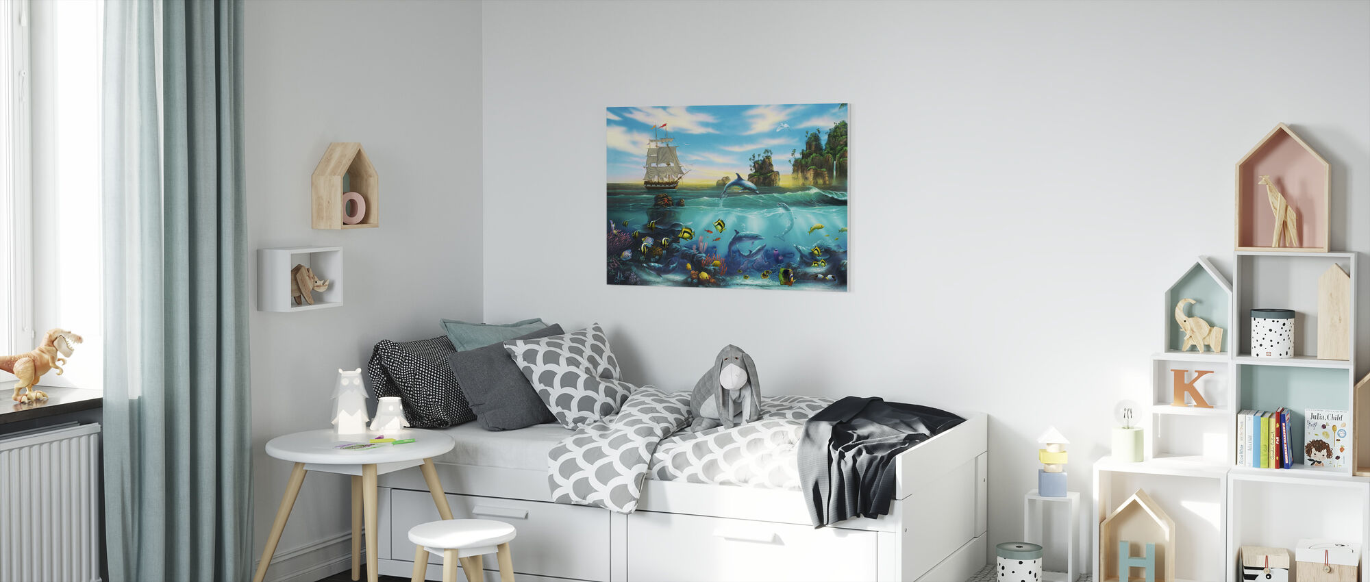 Paradise Found - Canvas print - Kids Room