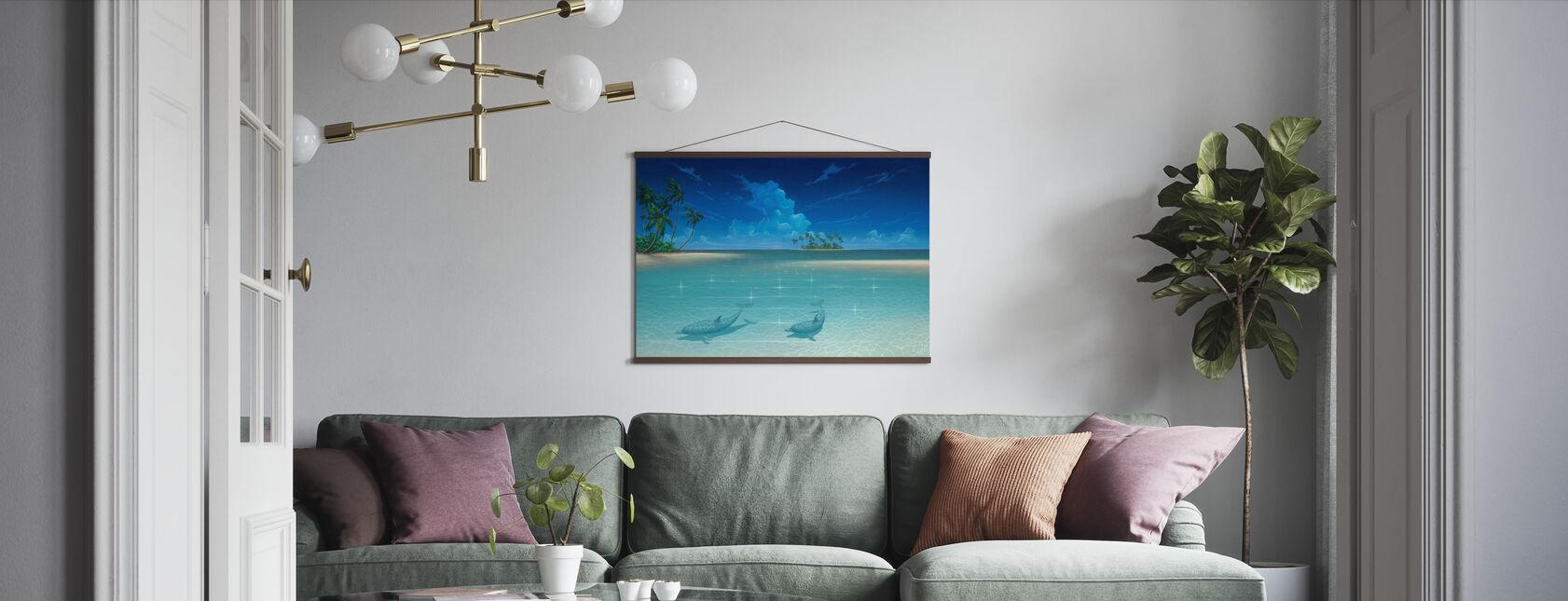Dolphin Bucht - Poster - Wohnzimmer