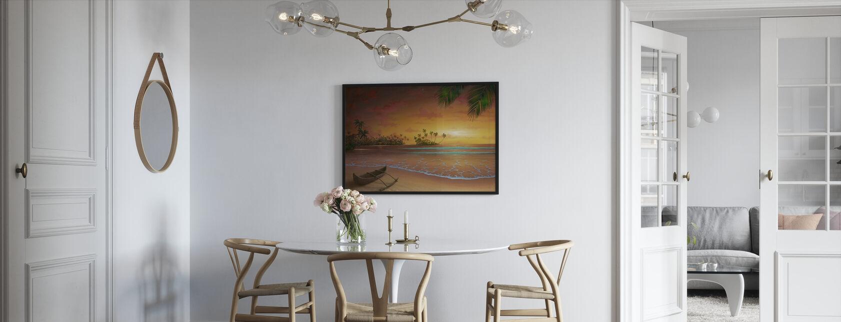 Øen Passion - Indrammet billede - Køkken