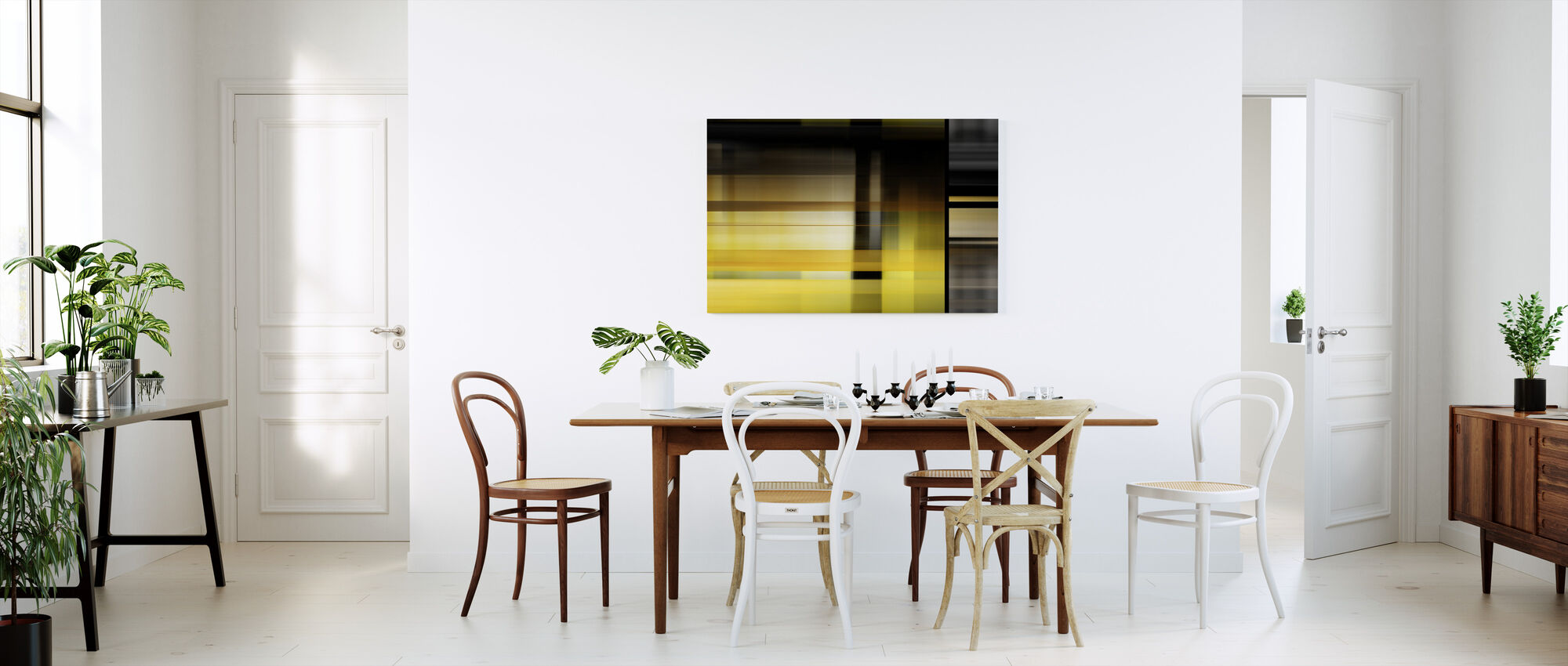 Urban Glass - Canvas print - Kitchen
