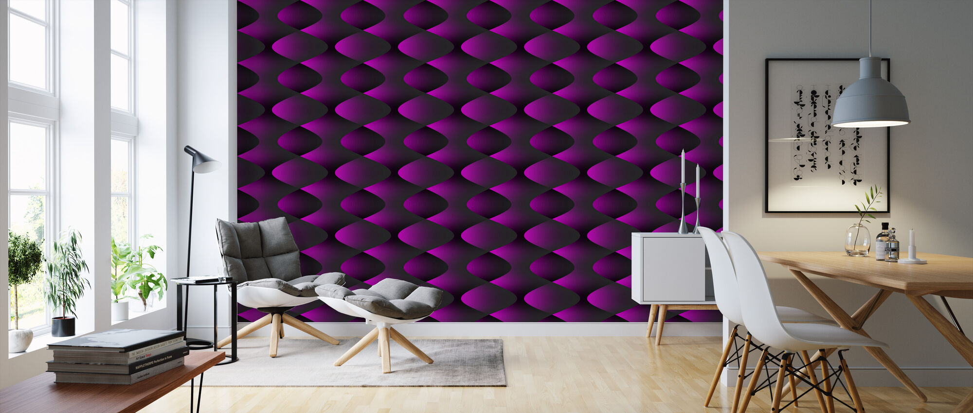 Magenta - Wallpaper - Living Room