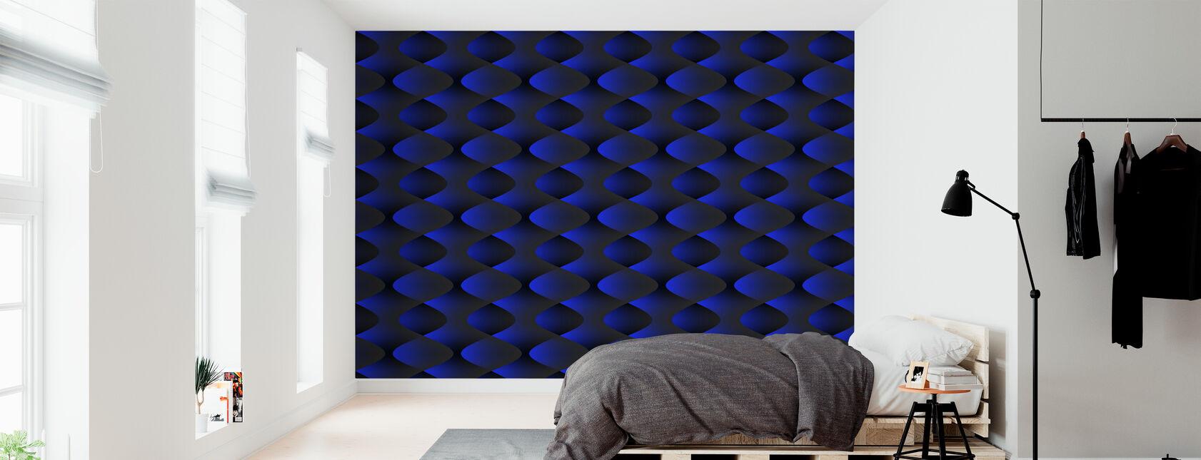 Blauw - Behang - Slaapkamer