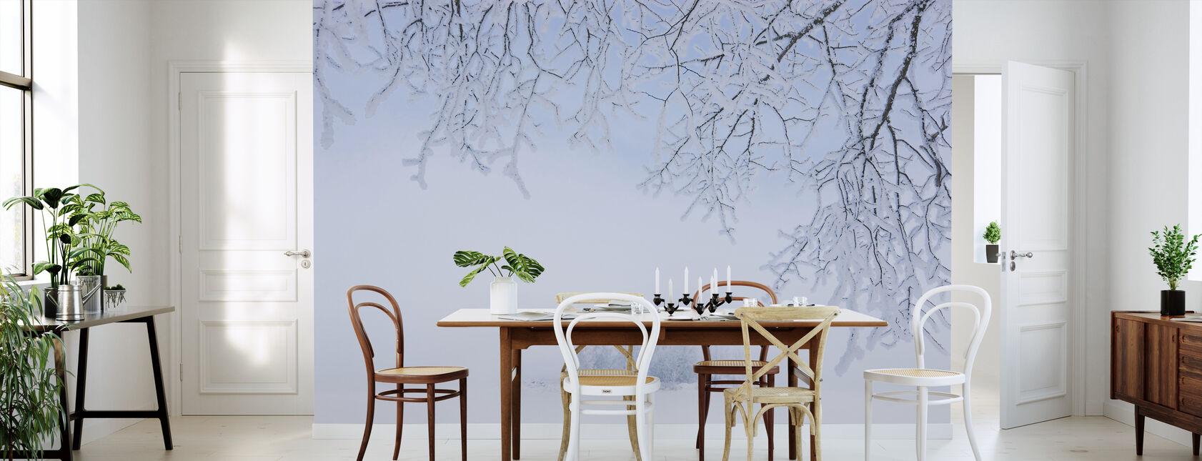 Mistige winter - Behang - Keuken