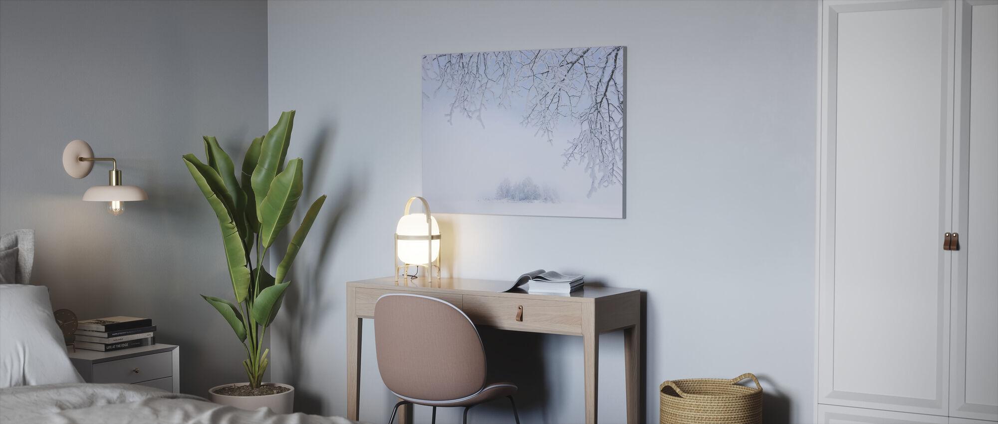 Foggy Winter - Canvas print - Office