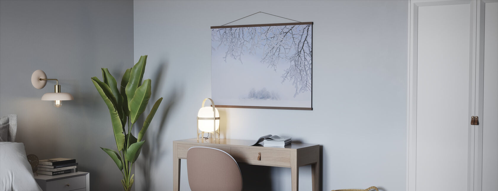 Foggy Winter - Poster - Office