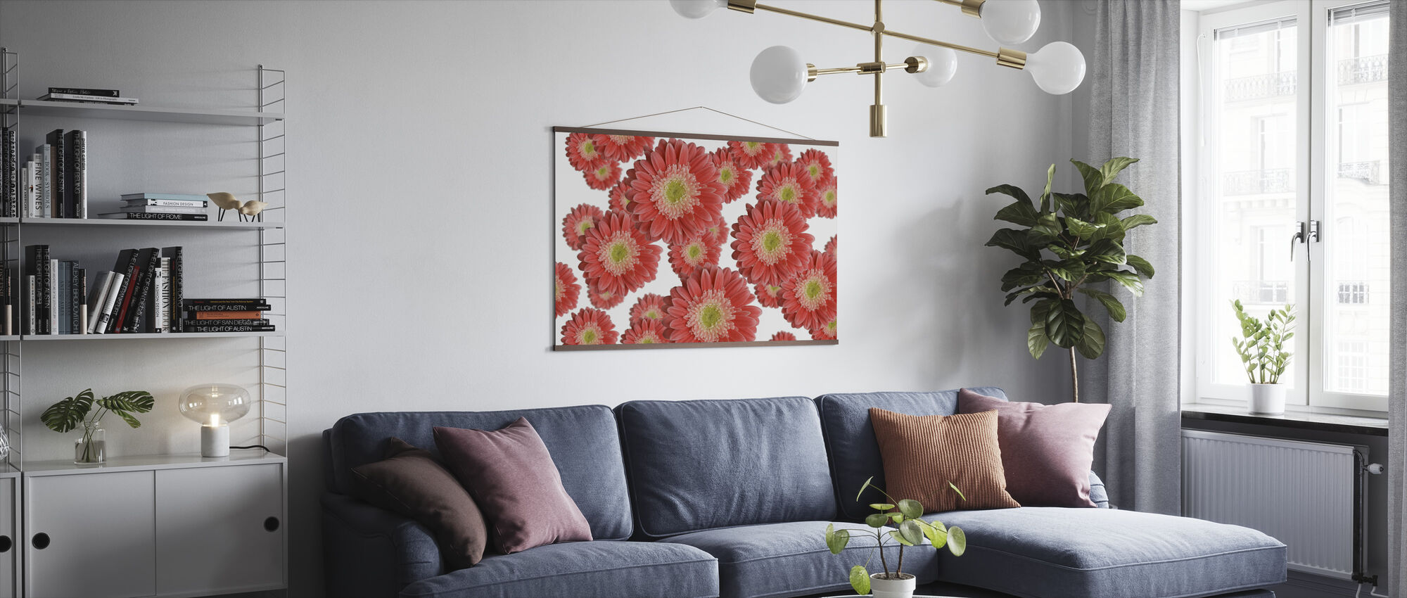 Hovering Flowers - Poster - Living Room