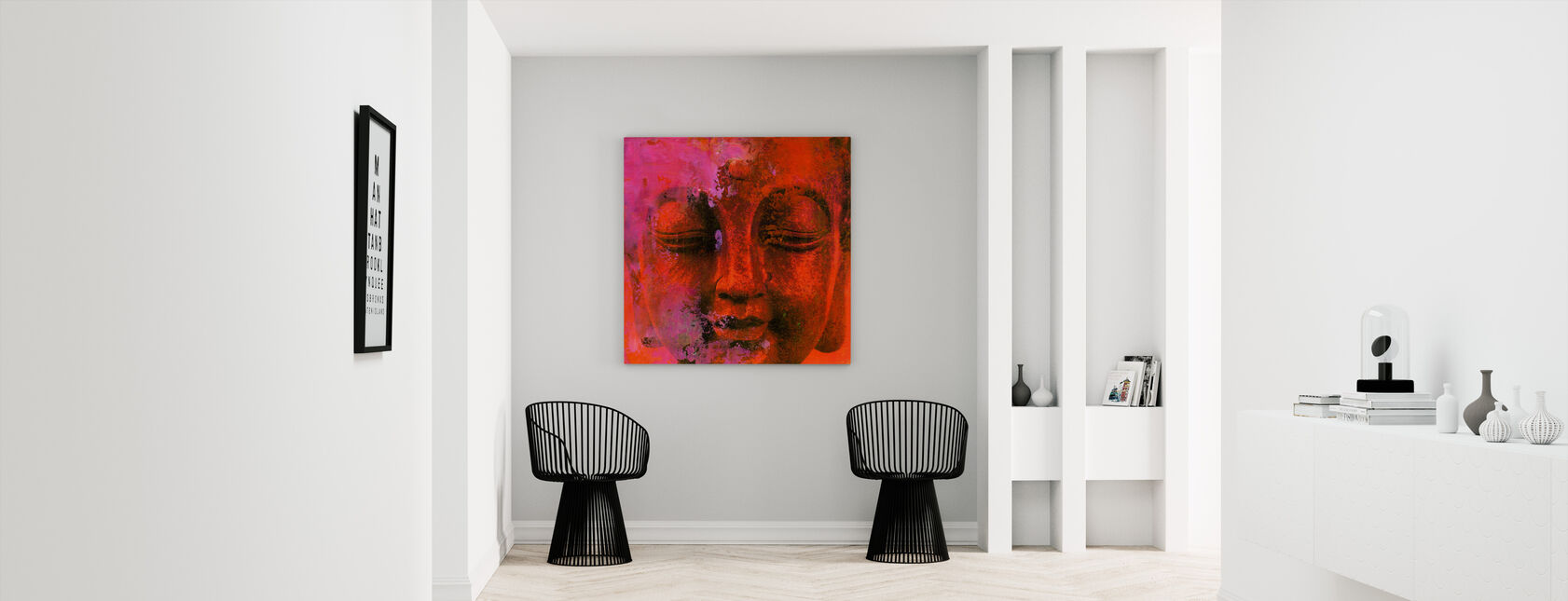 Red Buddha - Canvas print - Hallway
