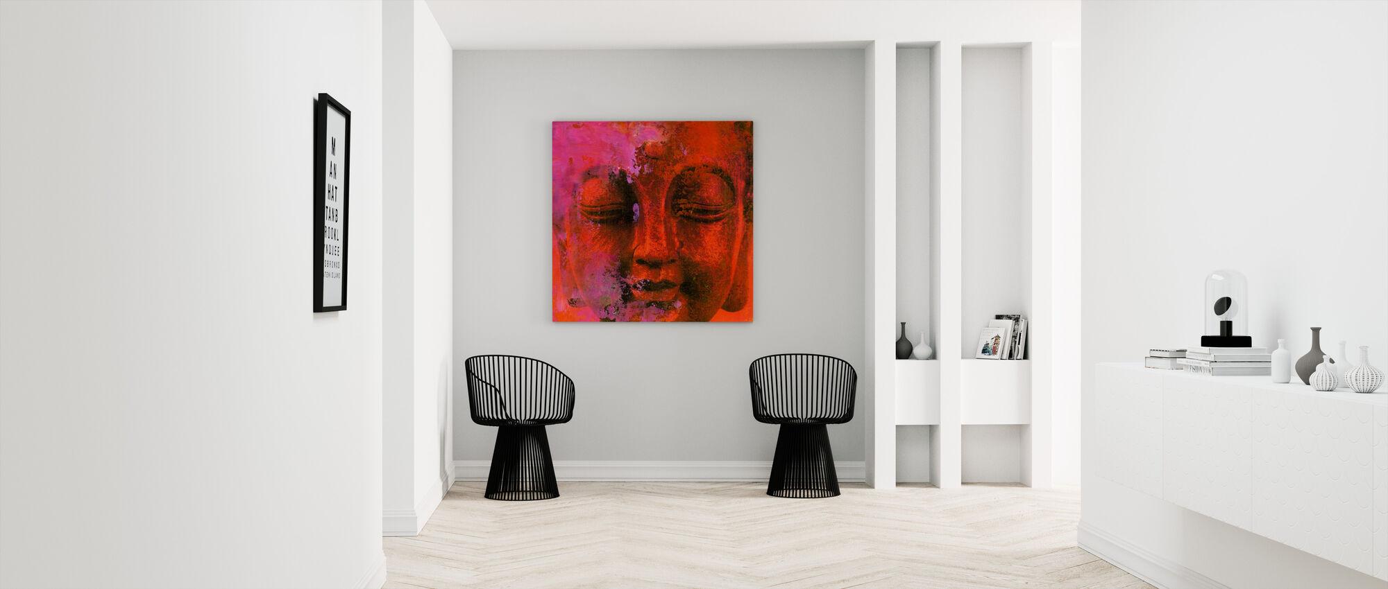 Red Buddha - Canvas print - Hallway