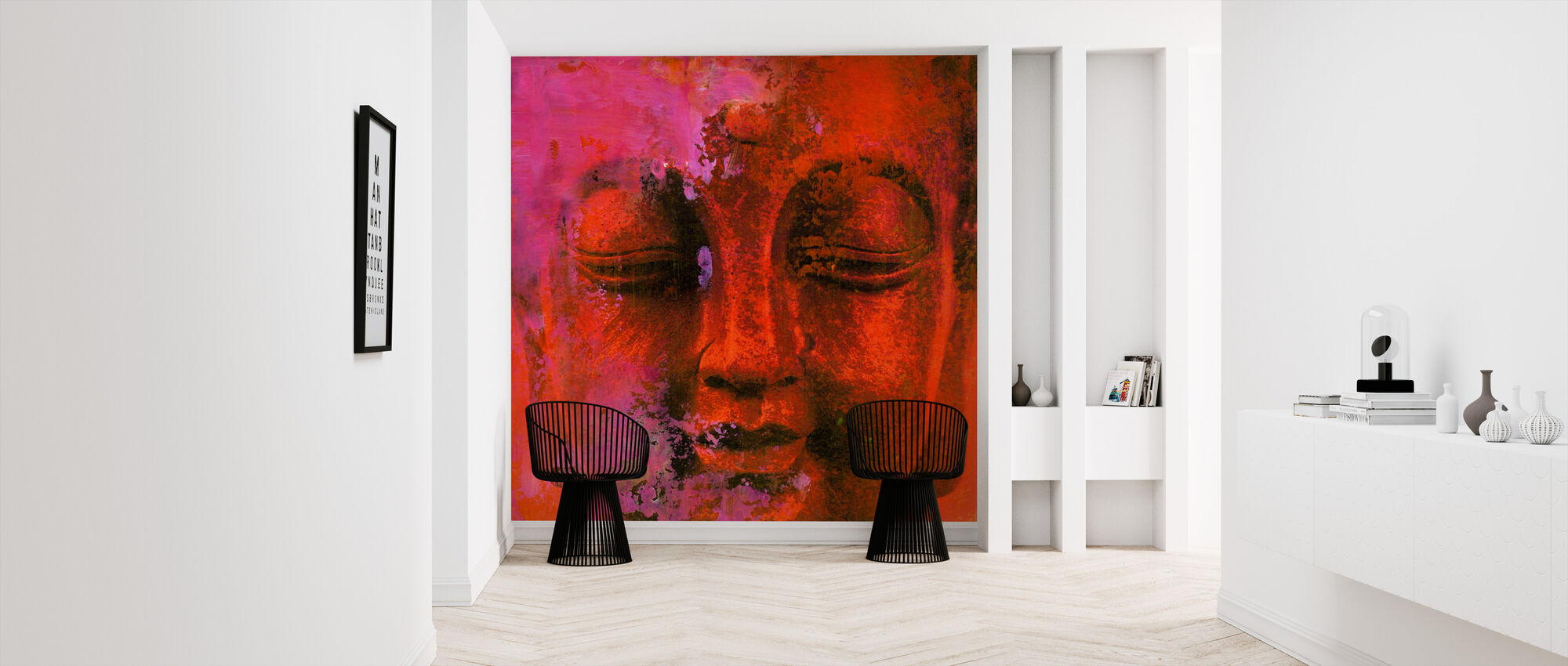 Red Buddha - Wallpaper - Hallway
