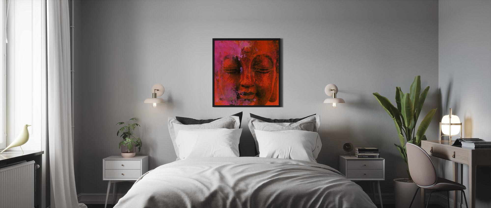 Punainen Buddha - Kehystetty kuva - Makuuhuone