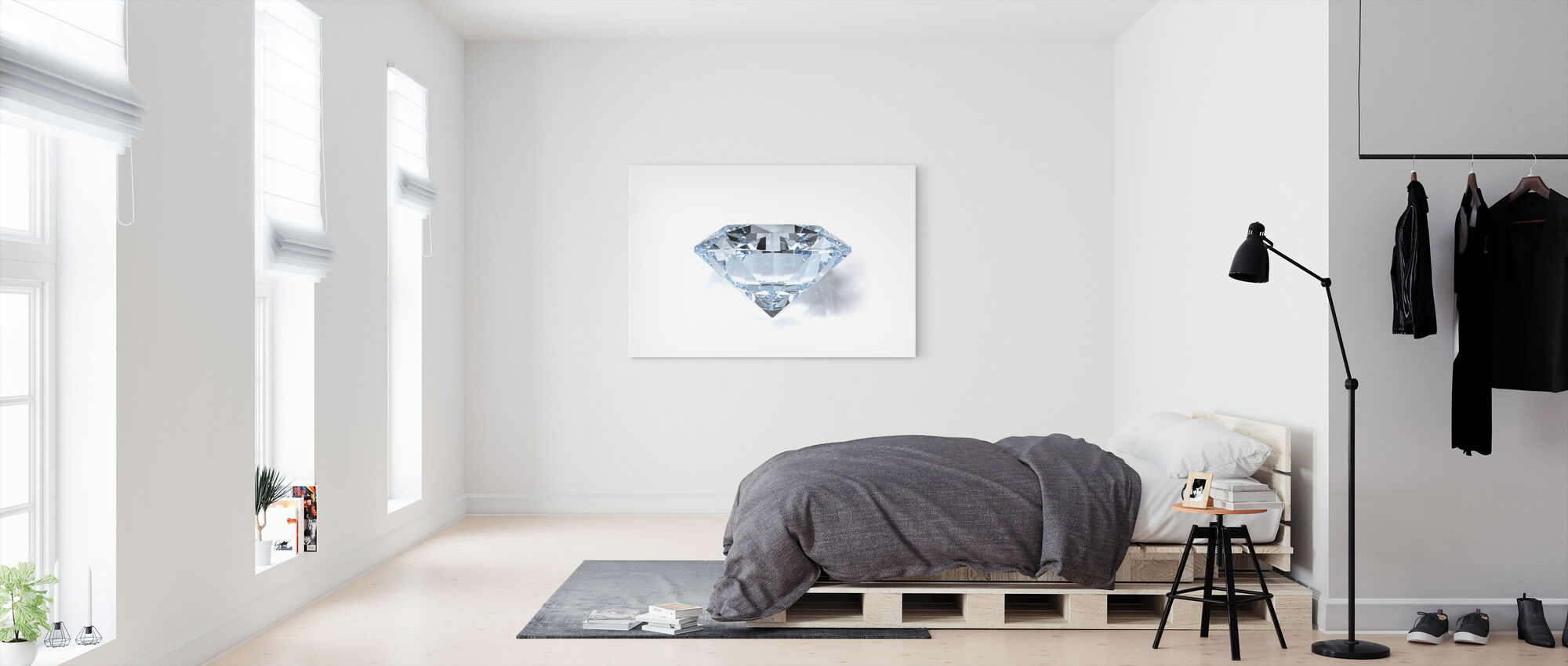Diamond - Canvas print - Bedroom