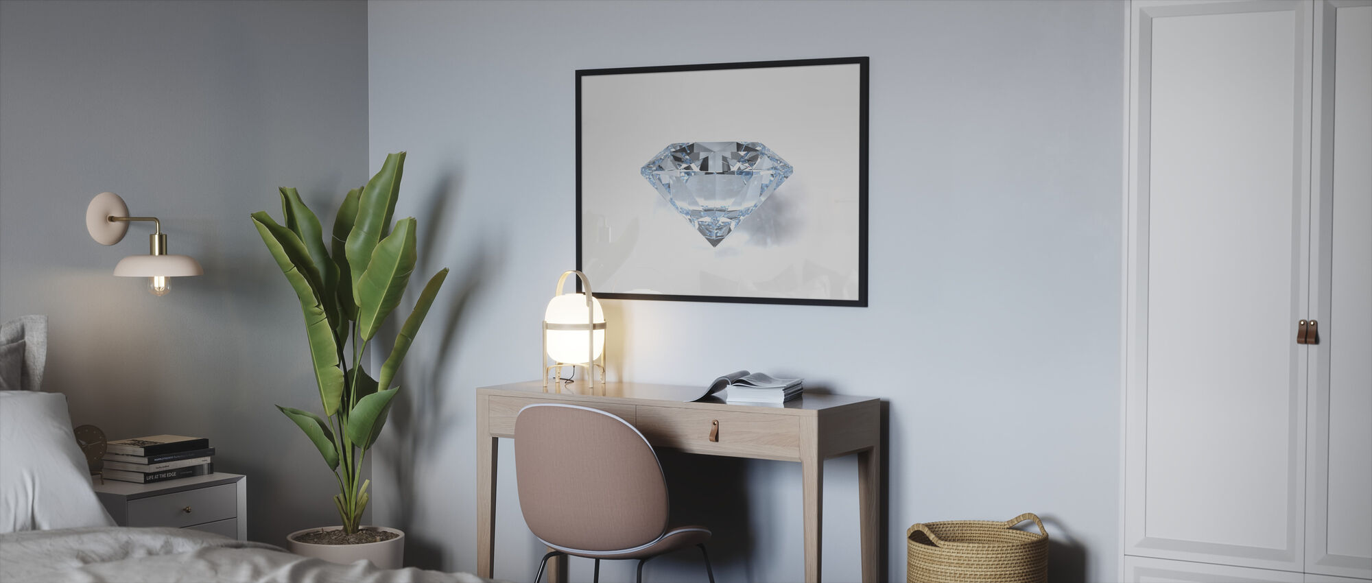 Diamond - Framed print - Bedroom