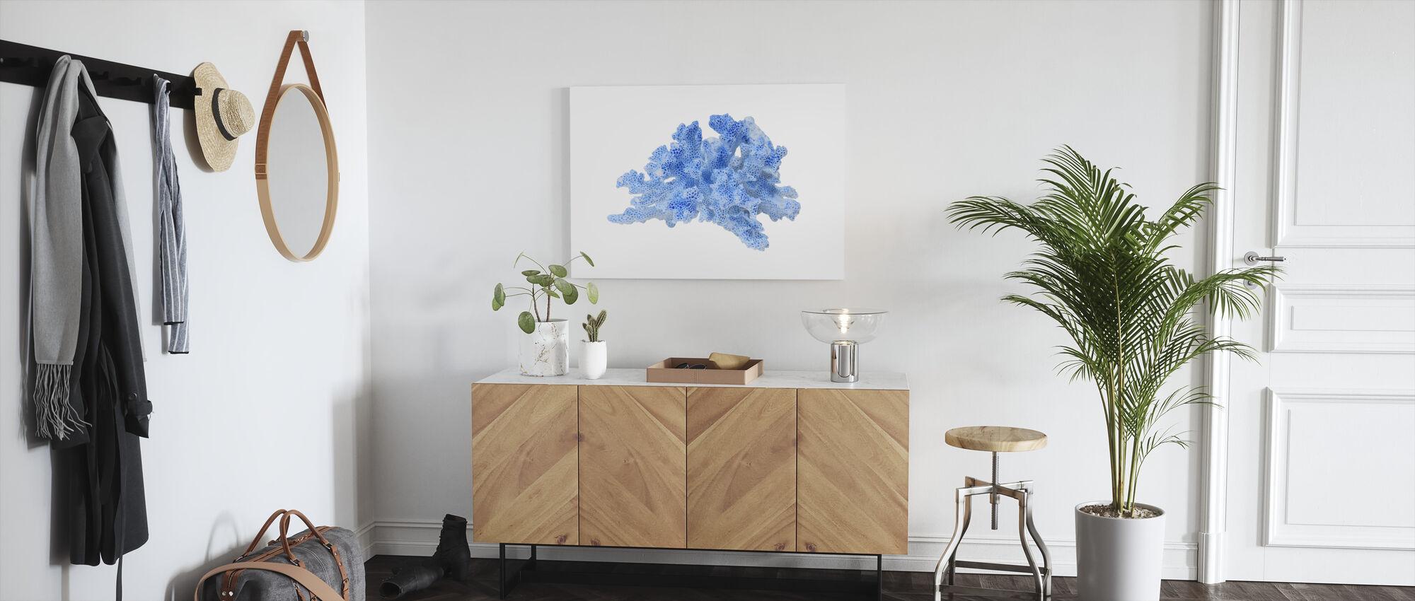 Blue Coral - Canvas print - Hallway
