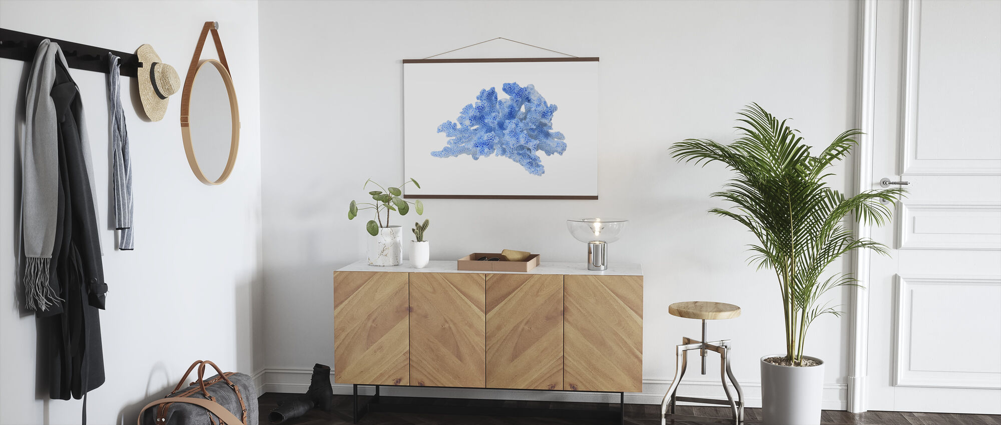 Blaue Koralle - Poster - Flur