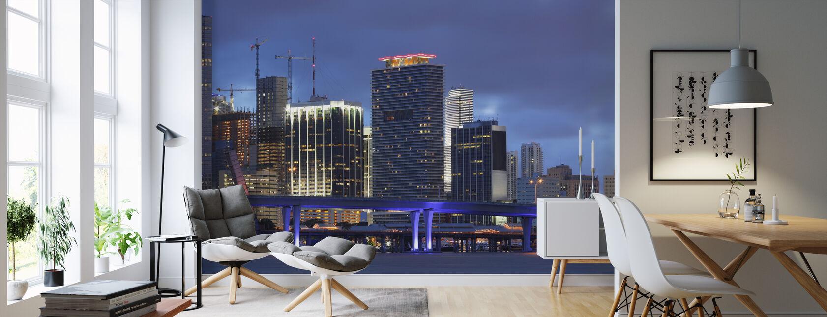 Downtown Miami, Florida - Behang - Woonkamer