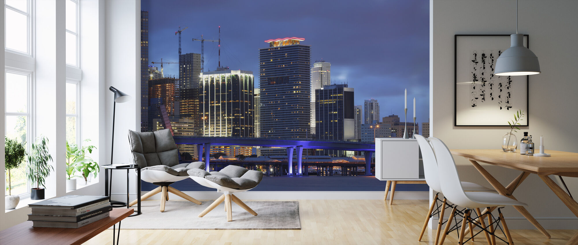 Downtown Miami, Florida - Wallpaper - Living Room