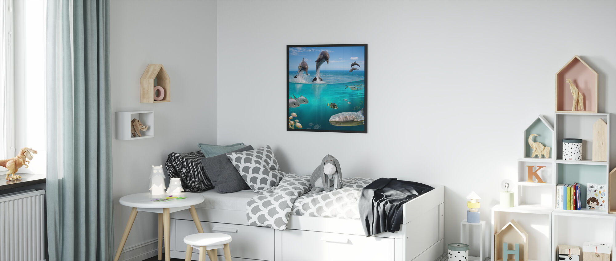 Sea Life - Framed print - Kids Room