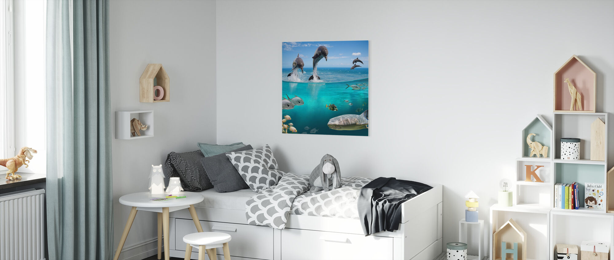Sea Life - Canvas print - Kids Room