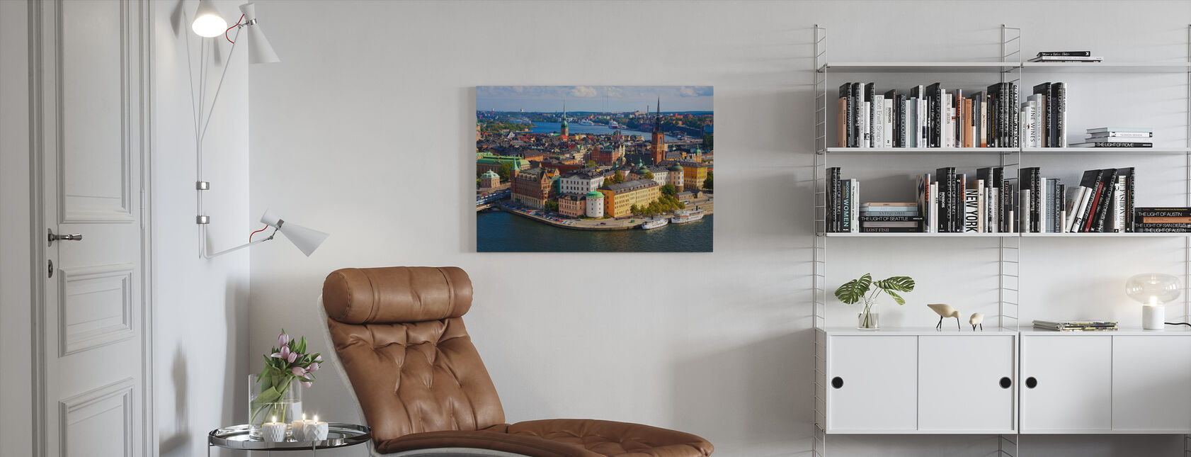 Stockholm im Sonnenlicht - Leinwandbild - Wohnzimmer