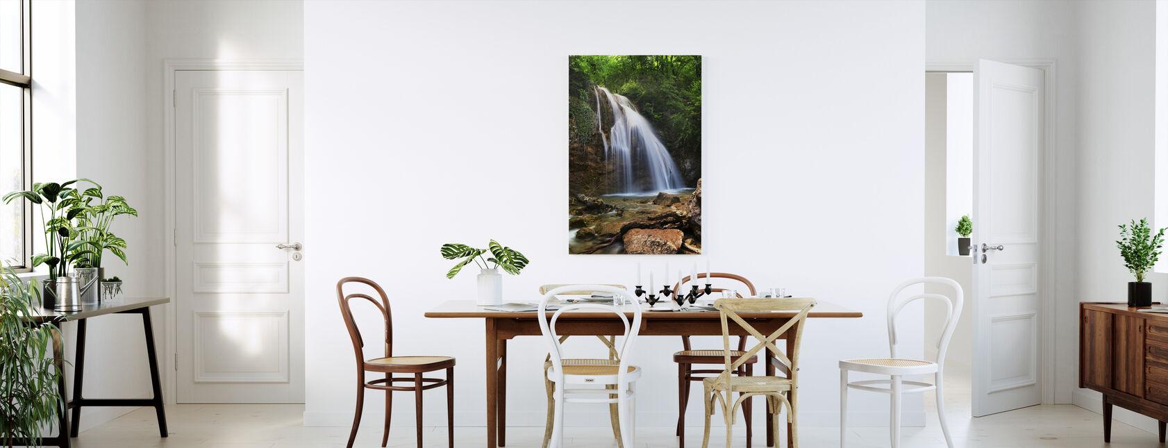 Lite vattenfall - Canvastavla - Kök