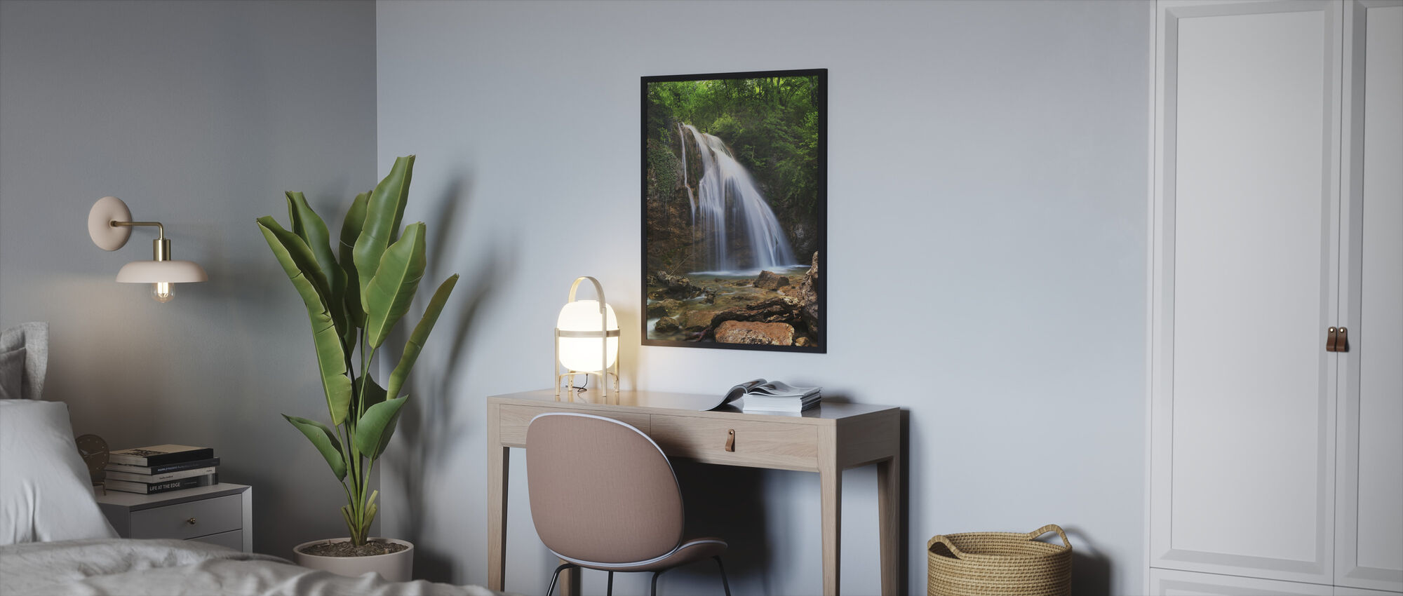 A Little Waterfall - Framed print - Bedroom