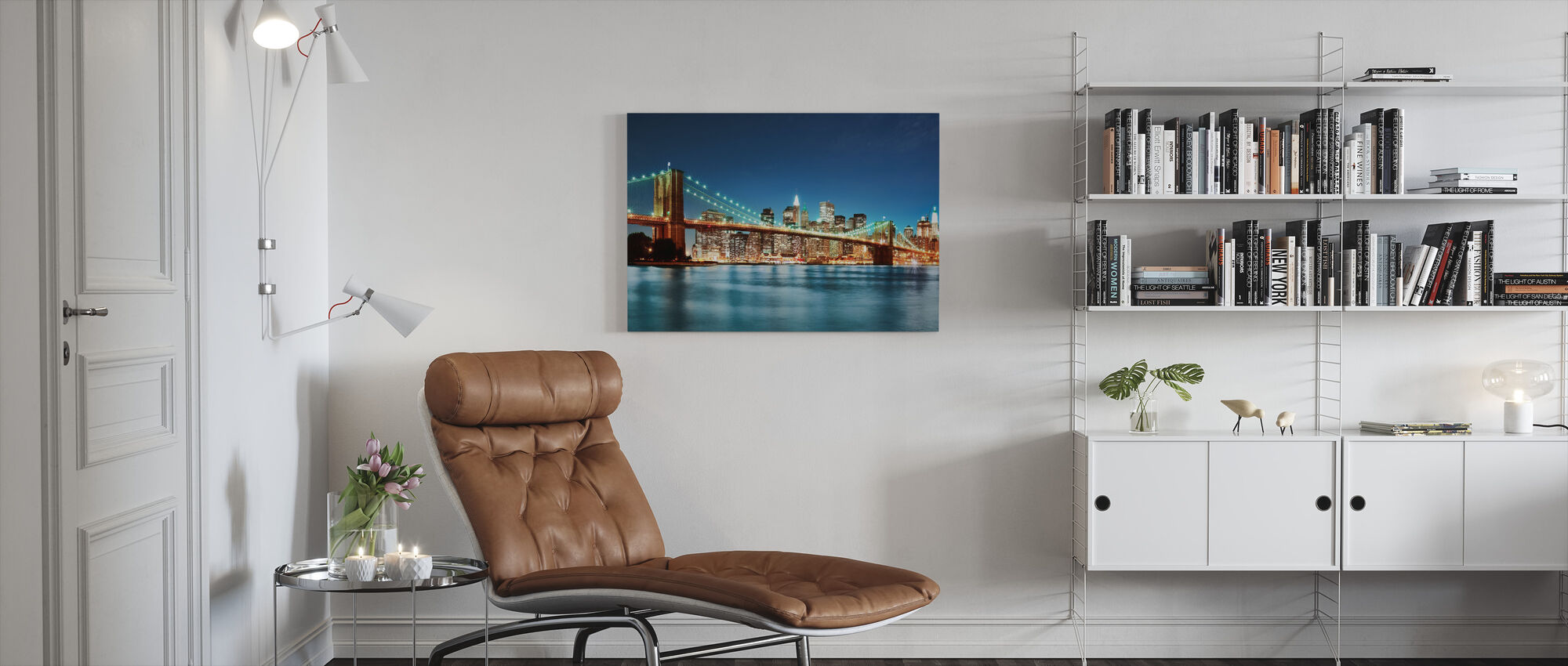Bright Brooklyn Bridge - Canvas print - Living Room