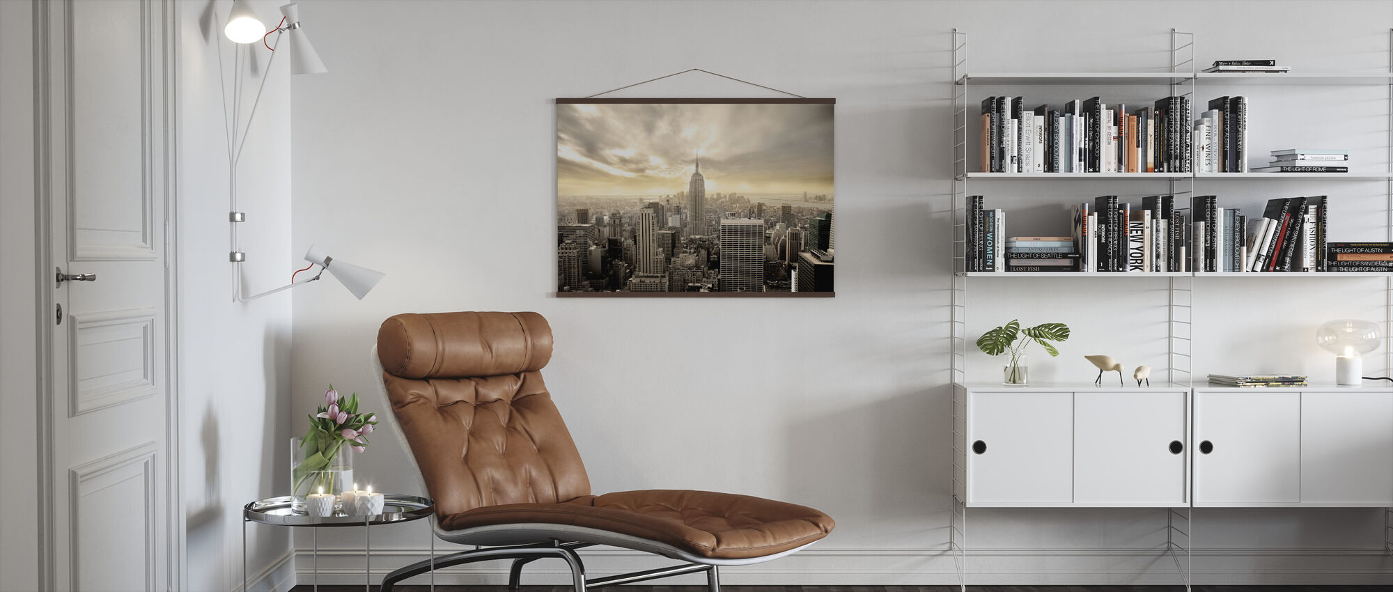 Enchanting New York - Yellow Sky - Poster - Living Room