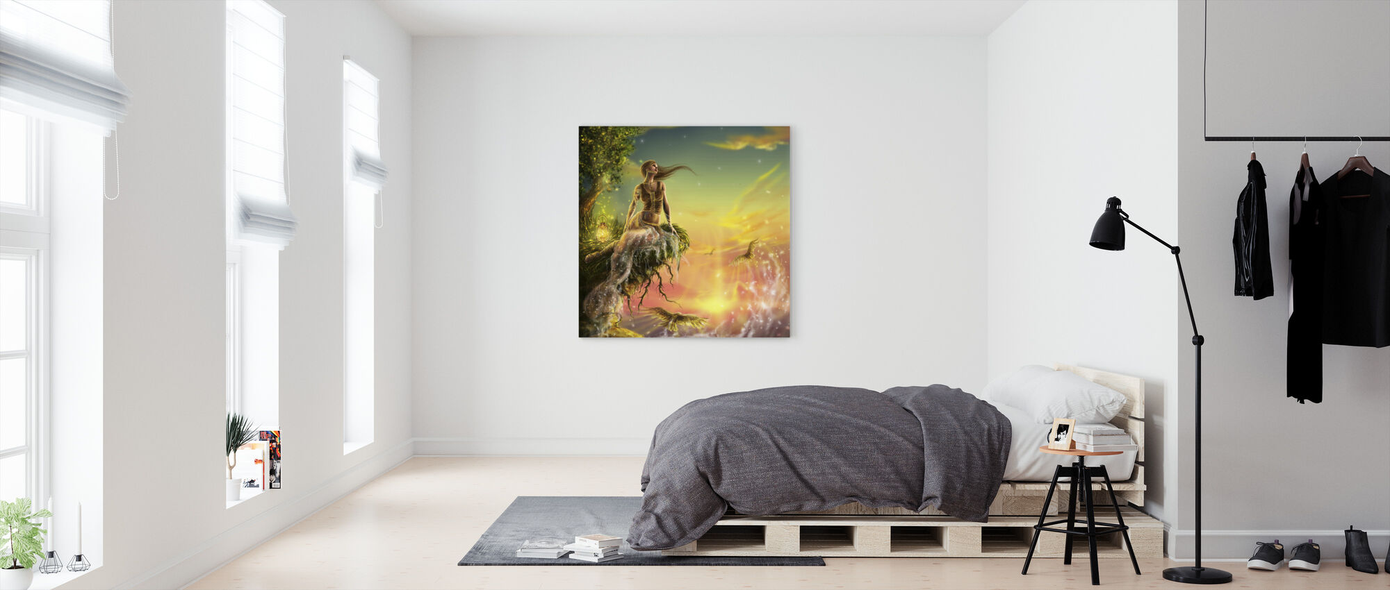 Golden Night - Canvas print - Bedroom