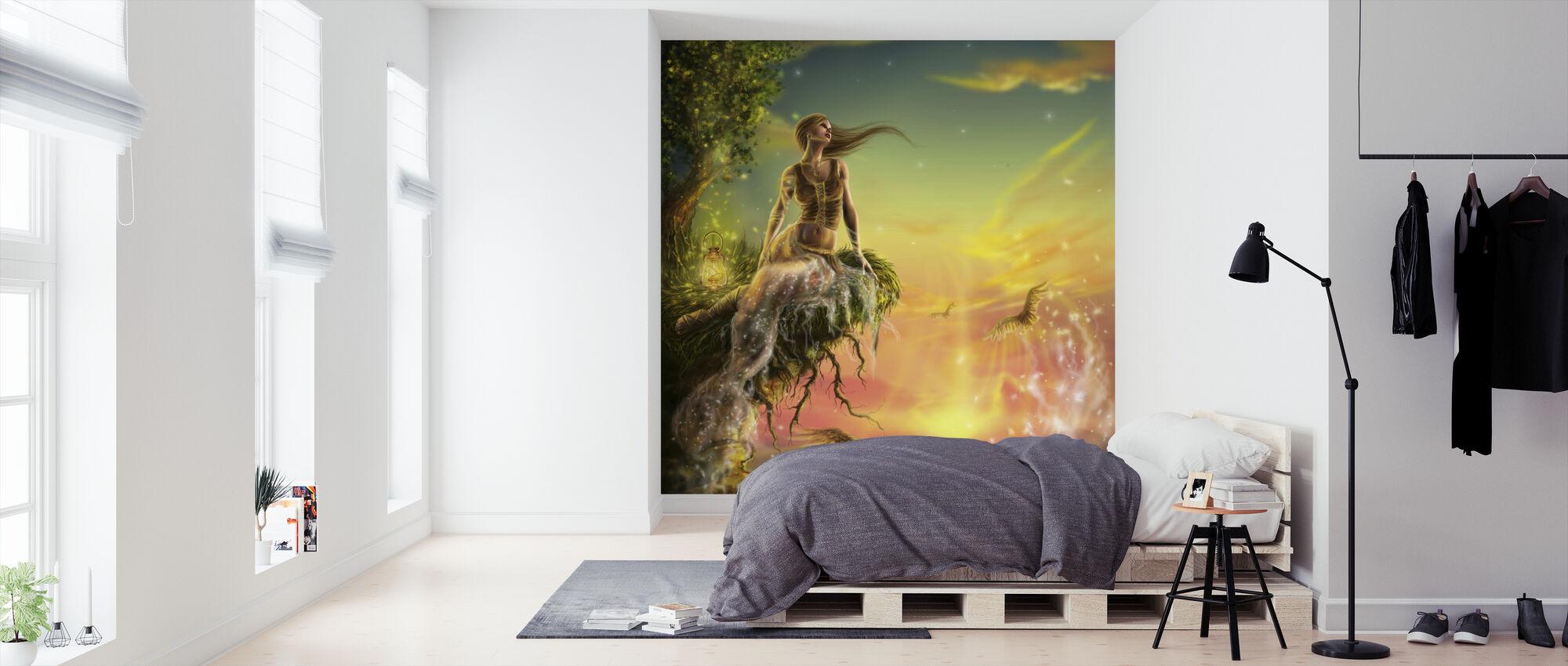 Goldene Nacht - Tapete - Schlafzimmer