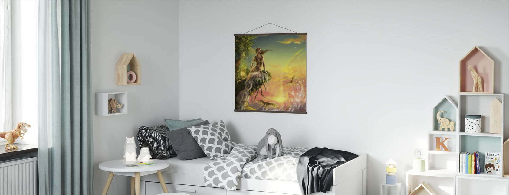 Golden Night - Poster - Kids Room