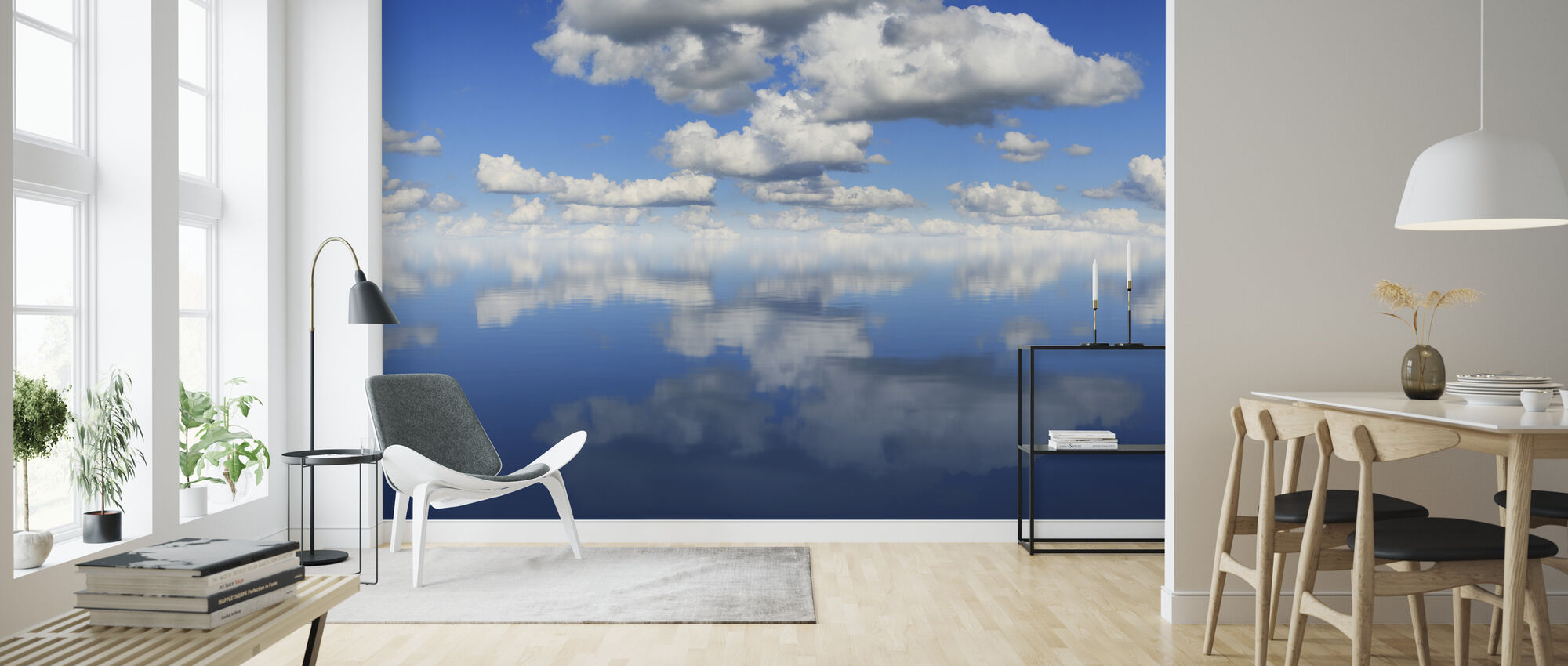 Mirror Sea - Wallpaper - Living Room