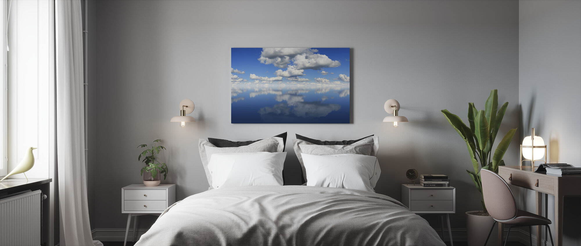 Peili meri - Canvastaulu - Makuuhuone