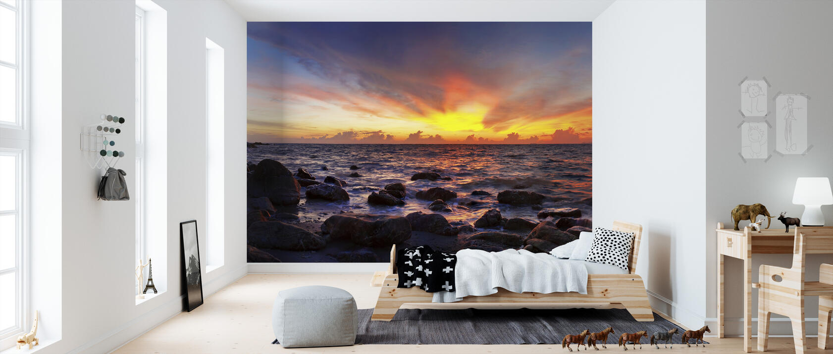 wild sunset fototapete nach ma photowall. Black Bedroom Furniture Sets. Home Design Ideas