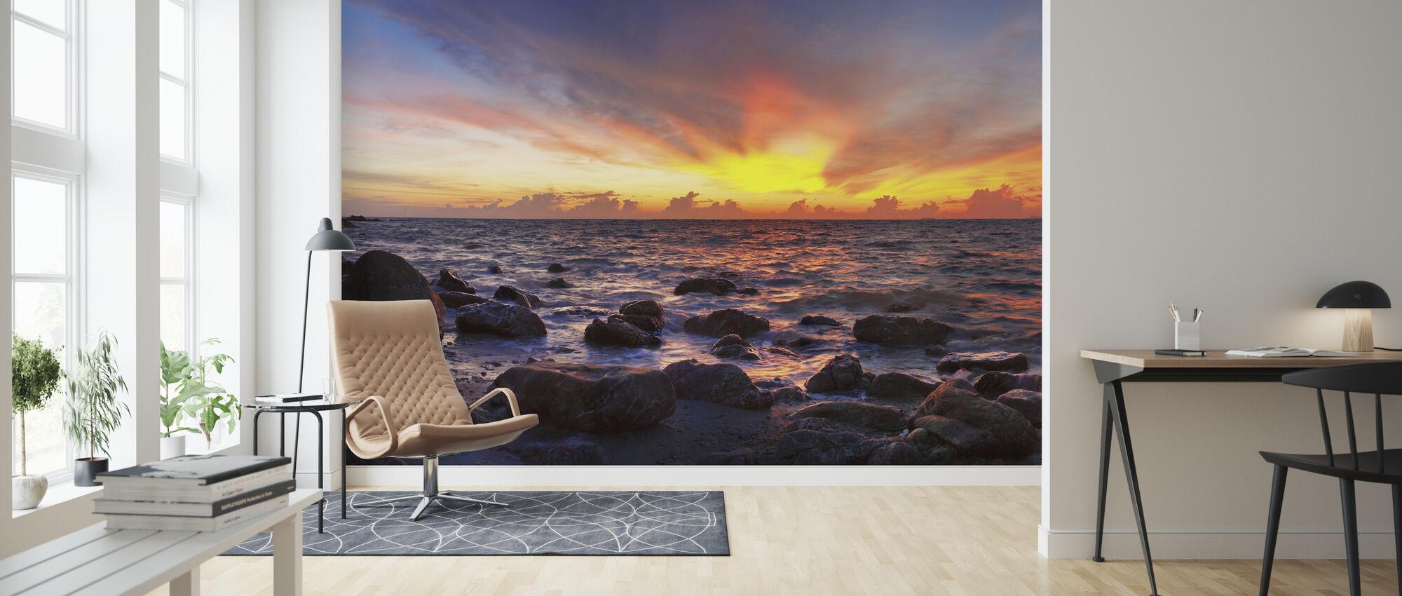Vild solnedgang - Tapet - Stue